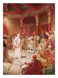 Jesus Brought before Caiaphas and the Council Giclee Print by William Brassey Hole