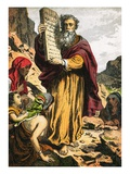 Ten Commandments Giclee Print by  English