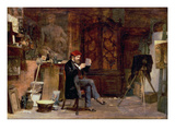 The Photographer's Studio, C.1850 Giclee Print by John Dawson Watson