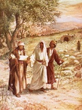 Jesus Appearing to Two Disciples on the Road to Emmaus Giclée-tryk af William Brassey Hole