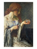 The Crystal Ball (Oil on Board) Giclee Print by Robert Anning Bell