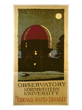 Observatory Northwestern University, Poster for the Chicago Rapid Transit Company, USA, 1925 Giclee Print by Wallace Swanson