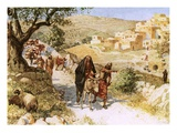 David, Fleeing from Jerusalem, Is Cursed by Shimei Giclee Print by William Brassey Hole