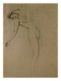 Study for 'Clyties of the Mist' (Chalk on Paper) Giclee Print by Herbert James Draper