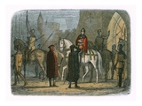 King Henry V Marches Out Against the Lollards Stretched Canvas Print by James E. Doyle