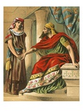 Nebuchadnezzar Commanding Daniel to Interpret the Dream Giclee Print by  English