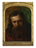 Portrait of a Man (Oil on Paper Laid Down on Panel) Giclee Print by William Etty