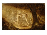 Study for the Quarrel of Oberon and Titania, C.1849 (W/C) (See also 68757) Giclee Print by Sir Joseph Noel Paton