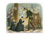 King Edward Iv and Lady Elizabeth Grey Giclee Print by James E. Doyle