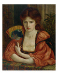 Self Portrait (W/C on Paper) (See also 183575) Giclee Print by Marie Spartali Stillman