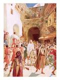 Jesus Entering Jesusalem Giclee Print by William Brassey Hole
