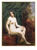 Seated Female Nude (Board) Giclee Print by William Etty