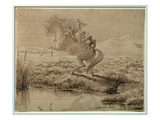 The Escape (Pen and Ink) Premium Giclee Print by Charles Altamont Doyle