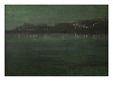 Nocturne: Battersea Reach Giclee Print by Walter Greaves