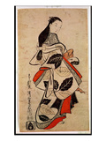 Standing Courtesan, Pub. 1710, (Kakemono-E Size, Hand-Coloured Woodblock Print) Giclee Print by Kaigetsudo Anchi