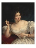 Portrait of a Young Lady (Oil on Canvas) Giclee Print by Joseph Desire Court