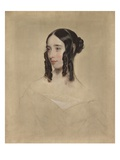 Study of a Young Woman, 1847 (Oil on Canvas) Giclee Print by Henry Room