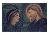 Christ and Youth, 1892 (W/C on Paper) Giclee Print by Simeon Solomon