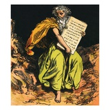 The Ten Commandments Giclee Print by  English