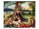 The Death of Arthur, C.1861 Giclee Print by James Archer