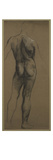 Male Nude Study (Black and White Chalk on Brown Paper) Giclee Print by Evelyn De Morgan
