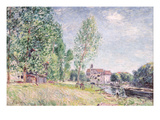 The Builder's Yard at Matrat, Moret-Sur-Loing Giclee Print by Alfred Sisley