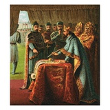 King John and Magna Carta Giclee Print by  English