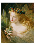 Take the Fair Face of Woman, and Gently Suspending, with Butterflies, Flowers, and Jewels Attending Giclee Print by Sophie Anderson