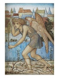 The Angel Azazel (Pen and Ink with W/C Heightened with Bodycolour) Giclee Print by John Roddam Spencer Stanhope