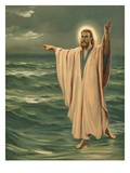 Christ Walking on the Sea Giclee Print by Philip Richard Morris