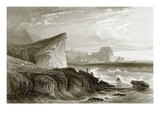 Scilla and Charybdis, Sicily Premium Giclee Print by  English