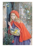 Little Red Riding Hood, 1862 (W/C and Gouache on Paper) Giclee Print by Isabel Oakley Naftel