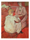 The Card Players, C.1893 Giclee Print by Henri de Toulouse-Lautrec