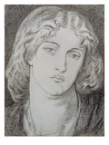 Fanny Cornforth (1824-1906) (Pen and Ink and Grey Wash on Paper) Giclee Print by Dante Charles Gabriel Rossetti