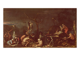 Scene of Witches (Oil on Canvas) Giclée-tryk af Salvator Rosa