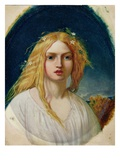Ophelia or Evangeline (Oil on Panel) Giclee Print by William Gale