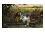 The Honeymoon (Oil on Board) Giclee Print by Marcus Stone