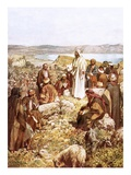 Christ Preaching to This Disciples and Others Giclee Print by William Brassey Hole