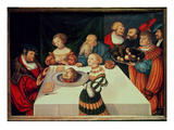 The Feast of Herod Giclee Print by Lucas Cranach the Elder