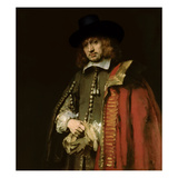 Portrait of Jan Six (1618-1700) 1654 Giclee Print by  Rembrandt van Rijn