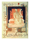 Fr 13091 F.29V the Prophet Micah, from the Psalter of Jean, Duke of Berry, C.1386 (Vellum) Giclee Print by Andre Beauneveu