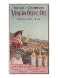 Advertisement for Mottet's Celebrated Virgin Olive Oil, C.1900 (Colour Litho) Giclee Print by  American