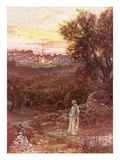 Jesus on the Mount of Olives Giclee Print by William Brassey Hole