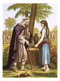 Abraham's Servant and Rebekah Giclee Print by  English