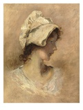 Head of a Woman (Oil on Canvas) Giclee Print by George Elgar Hicks