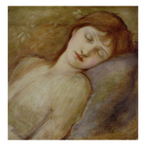 Study for the Sleeping Princess in 'The Briar Rose' Series, C.1881 (Oil on Canvas) Giclee Print by Sir Edward Burne-Jones