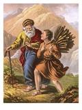 Abraham and Isaac on their Way to Moriah Lámina giclée por  English