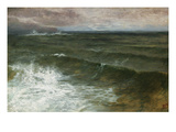 Lannacombe Bay, Start Point in the Distance (Oil on Board) Premium Giclee Print by George Vicat Cole