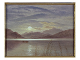 Lake Scene by Moonlight, 1879 (Board) Giclee Print by Arthur Gilbert