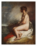 Study of a Seated Nude (Oil on Canvas) Giclee Print by William Etty